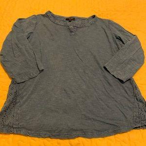 2/$10 Spense Knit Shirt Women's Size XL 3/4 sleeve